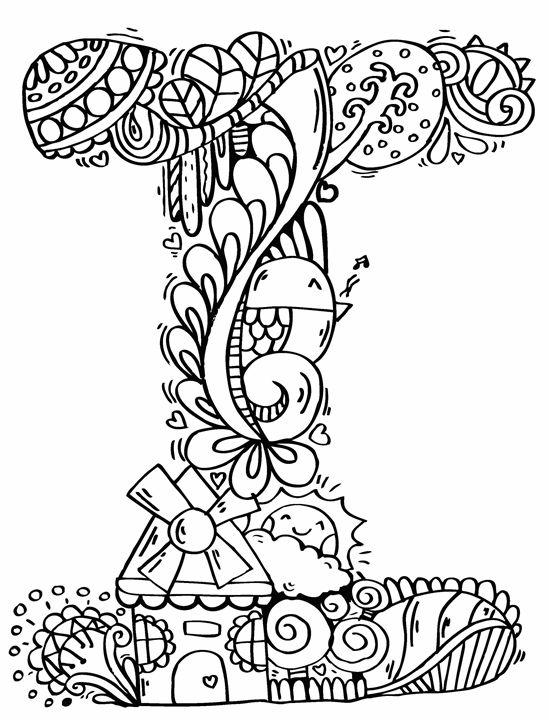 549x720 Alphabet I Doodle Art