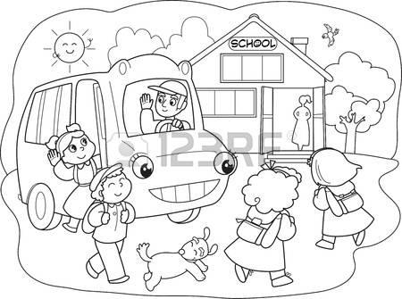 450x335 School Going Children Drawing