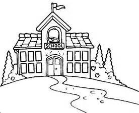276x225 Clipart Of Line Drawing School Building Collection