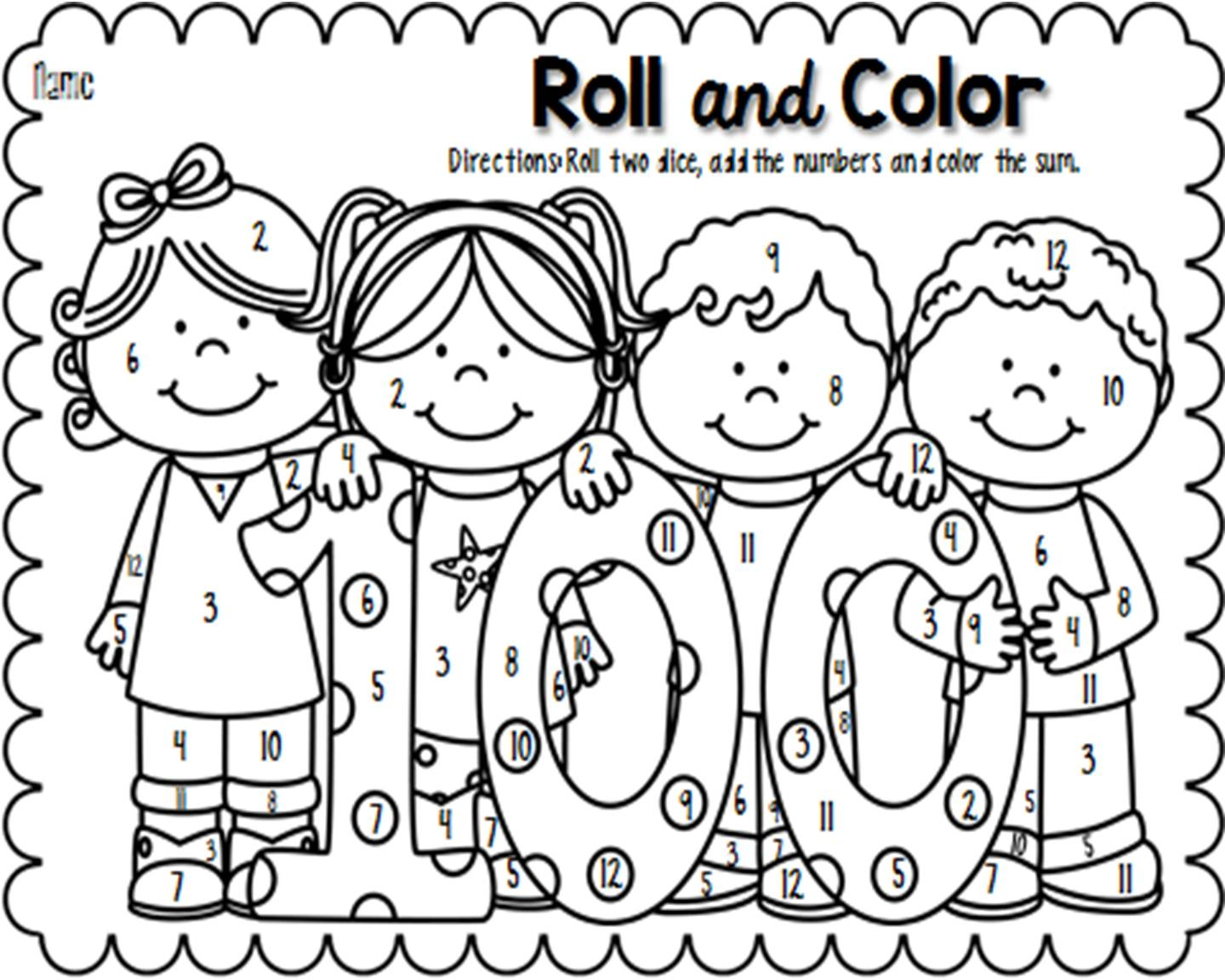 1440x1152 100 Day Of School Coloring Pages Tags 100 Day Coloring Page