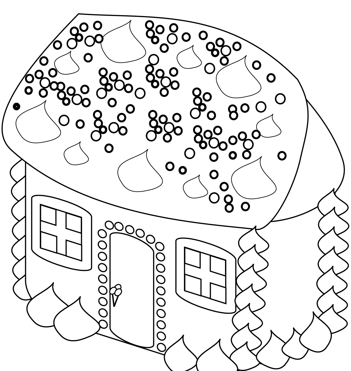 1159x1224 Easy House Coloring Pages Drawing Printabledult Free