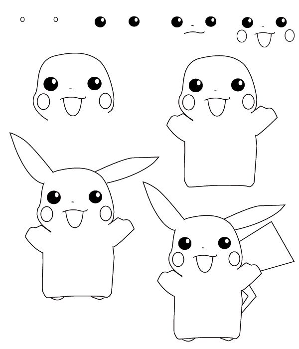 600x700 How To Draw Pokemon Learn How To Draw A Pokemon With Simple Step