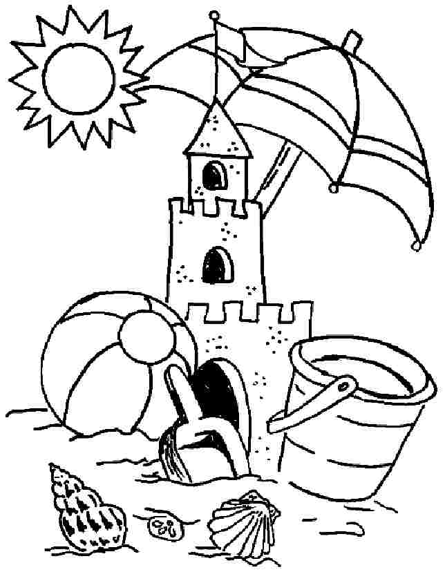 644x828 Beach Coloring Pages For Kids Beach Coloring Pages For Kids