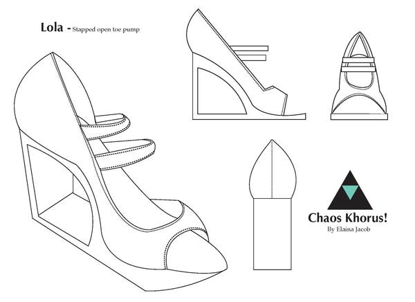 600x436 Technical Drawing Shoes