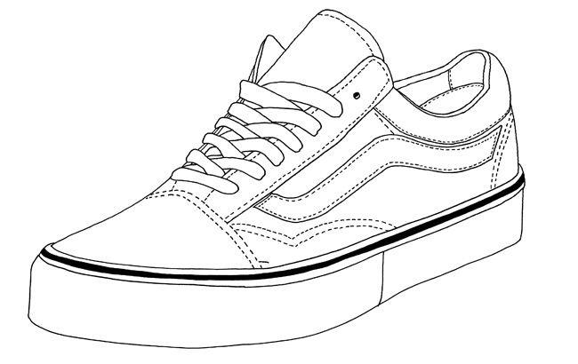 650x410 Vans Old Skool Footwear Templates Vans, Drawings