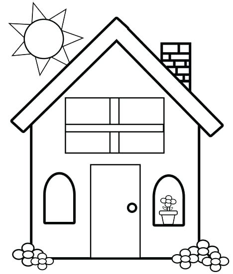 468x552 House Coloring Pictures School Page Printable