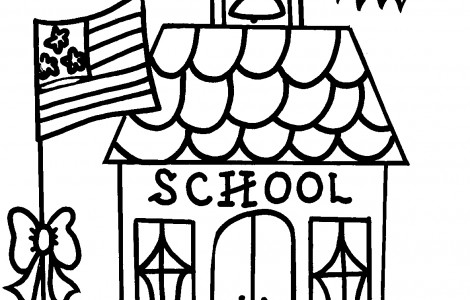 470x300 School House Coloring Page Download Free Printable Pages