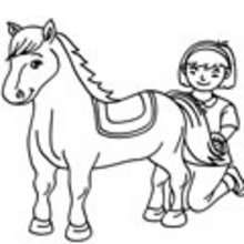 220x220 Horse Coloring Pages, Drawing For Kids, Reading Amp Learning