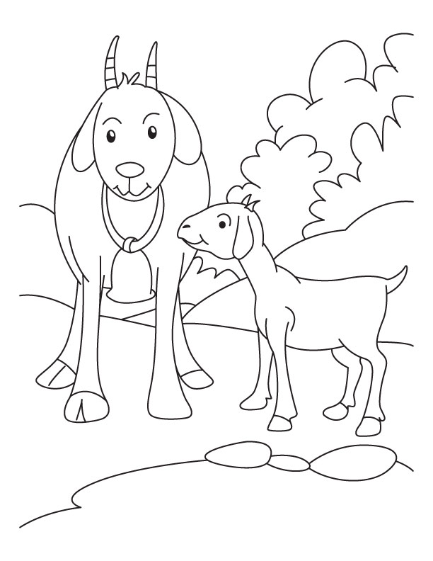 612x792 Kid Mother Goat Coloring Pages Download Free Kid