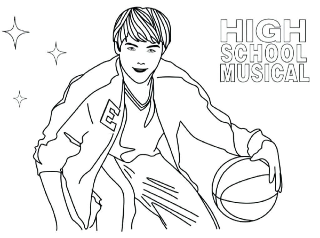 1024x761 High School Musical Coloring Pages Wonderful High School Musical