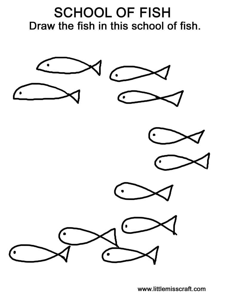 It is a graphic of Stupendous School Of Fish Drawing