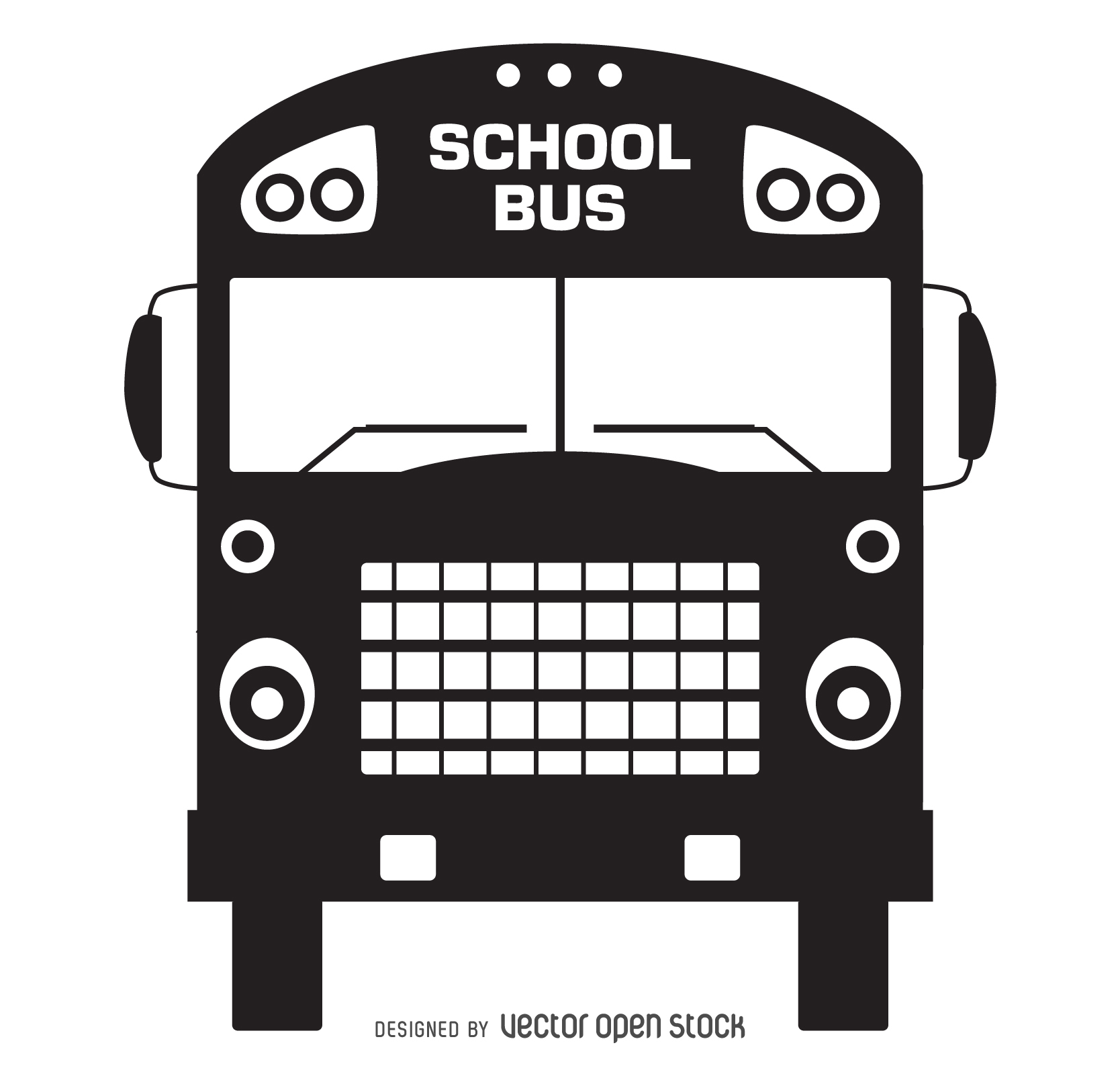 1668x1600 Old school bus silhouette