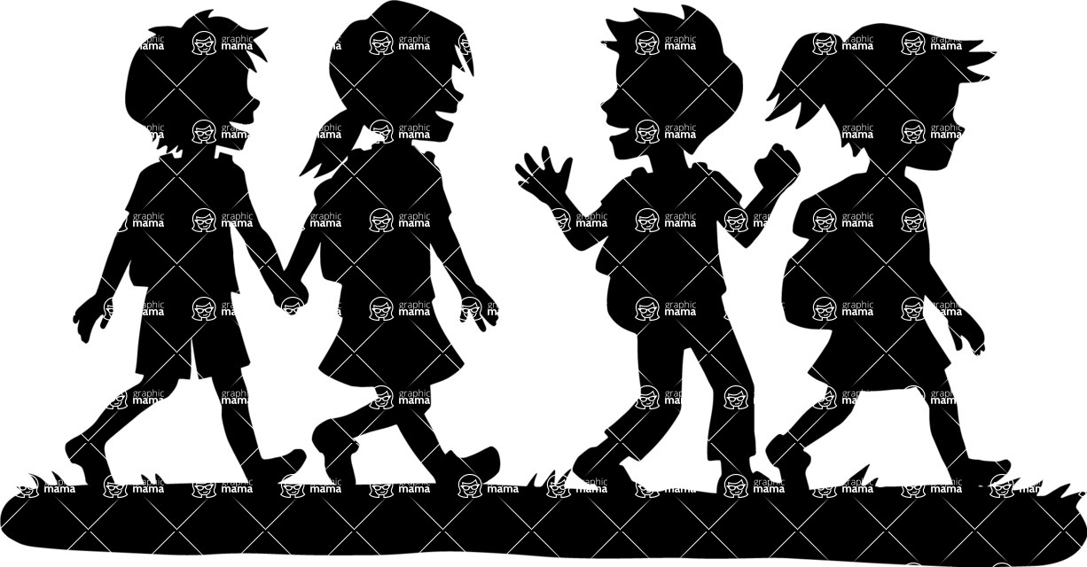 1226x640 School Kids Walking GraphicMama GraphicMama
