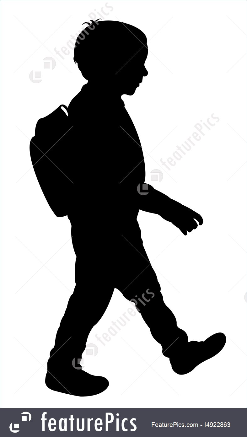 787x1392 Silhouettes And Outlines Back To School Kid Silhouette