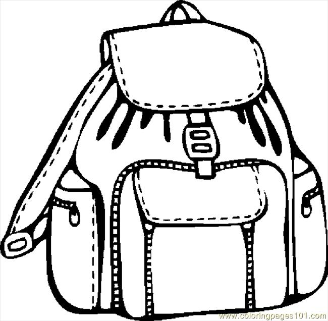 650x636 Bag School Supplies Coloring Pages