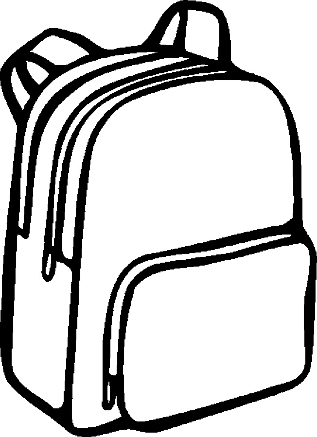 652x900 Better Of School Supplies Clipart Black And White