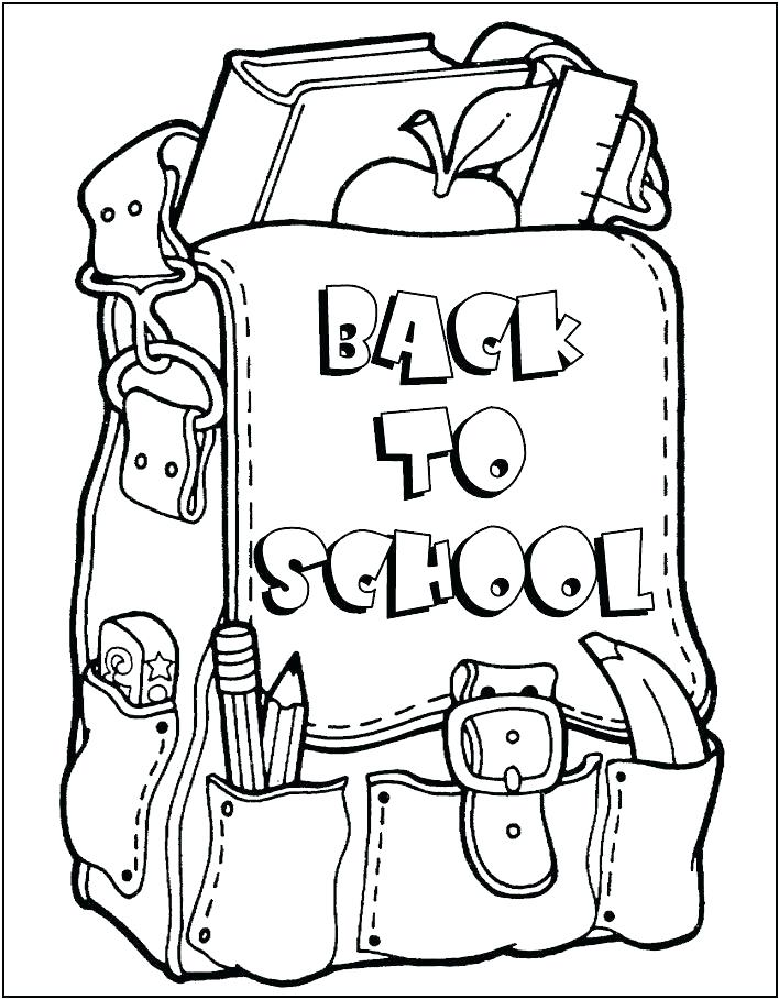 708x908 Classroom Coloring Pages School Supplies Coloring Page Classroom