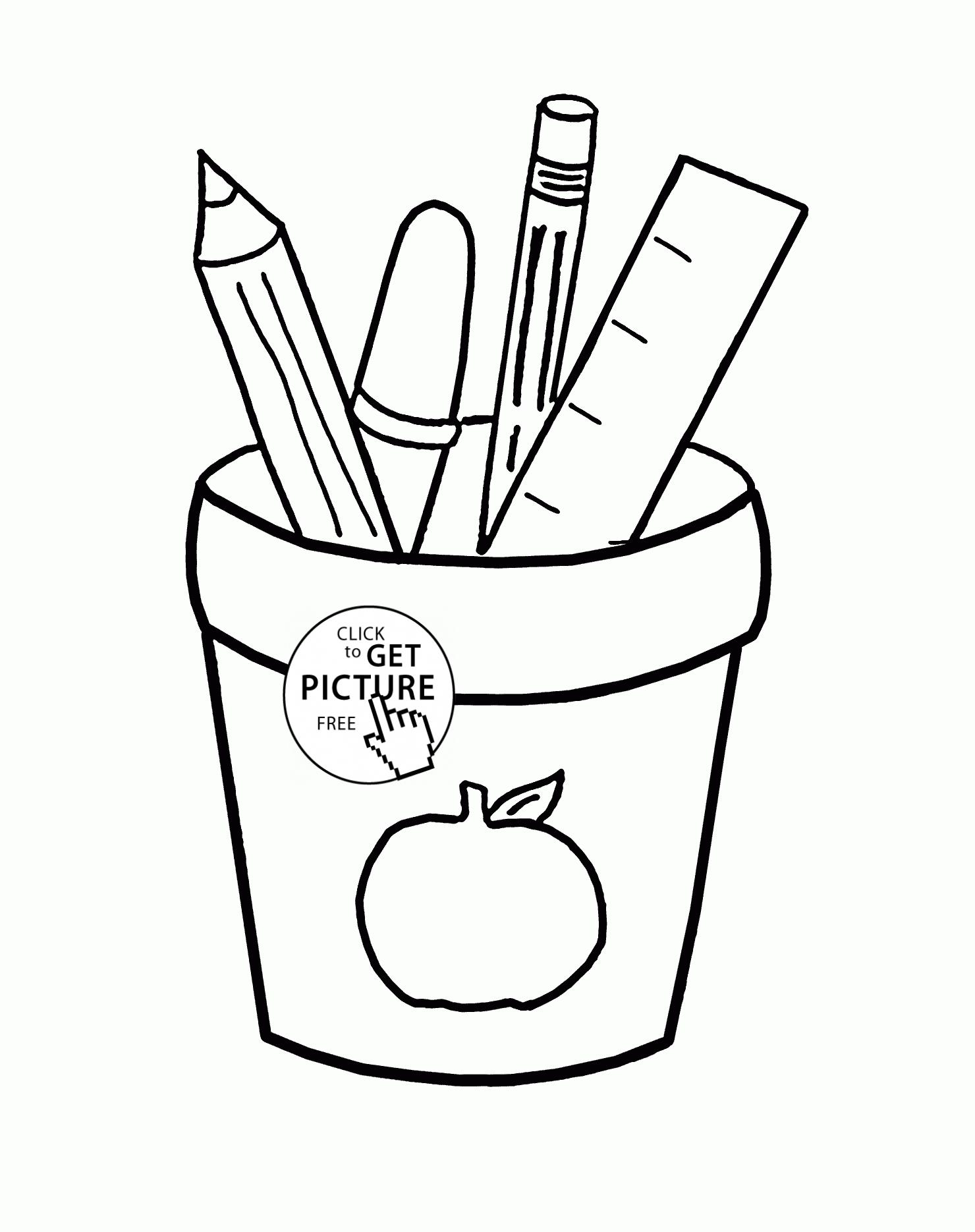 1480x1870 Coloring Pages School Supplies Coloring Page Fun