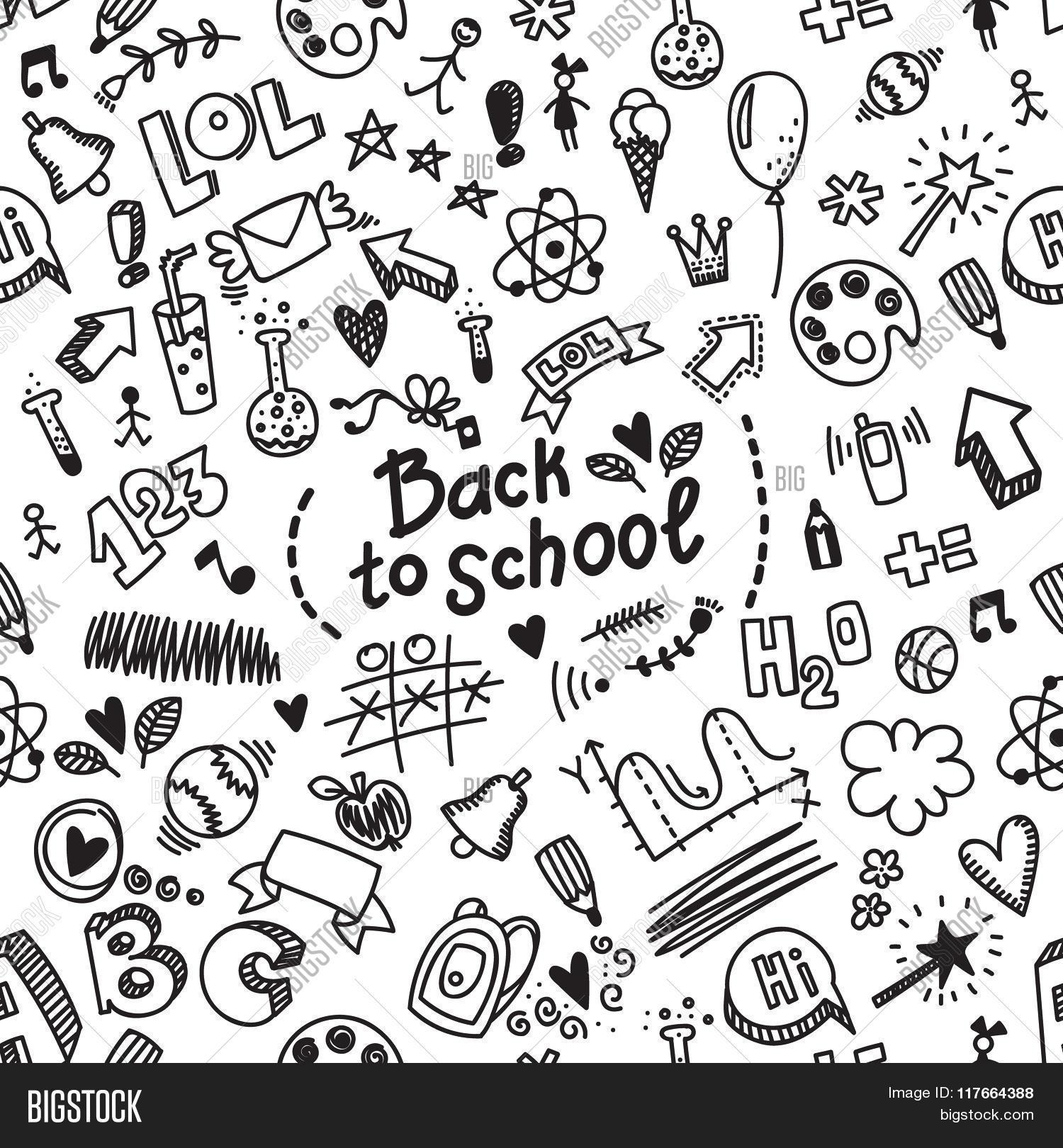 1500x1620 Drawn Background Back To School