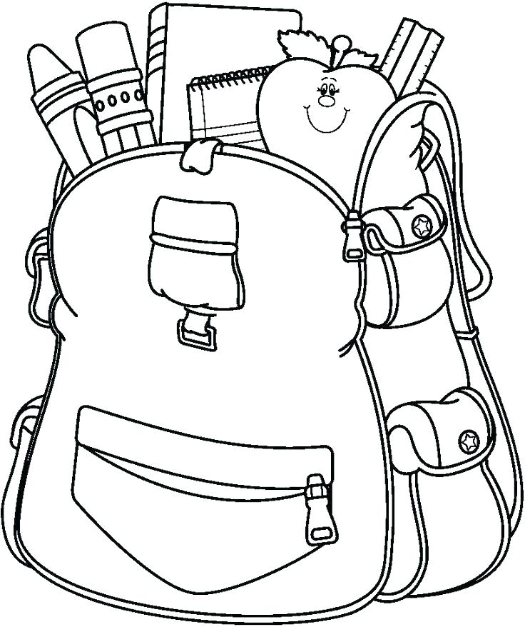 736x878 Entertaining School Supplies Coloring Pages Online Back