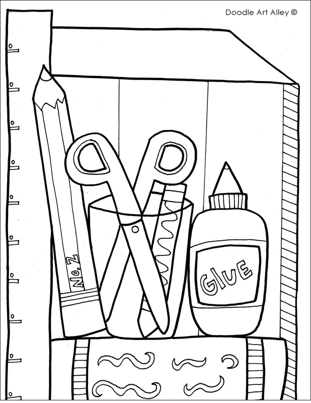 618x800 New School Supplies Coloring Pages 22 About Remodel Coloring Pages