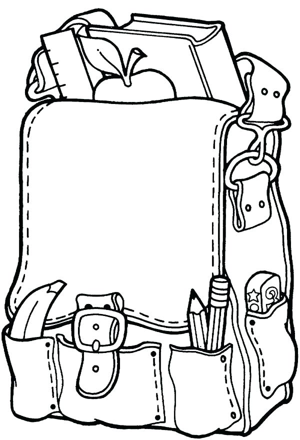 600x880 School Supplies Coloring Page Coloring Page School Equipment