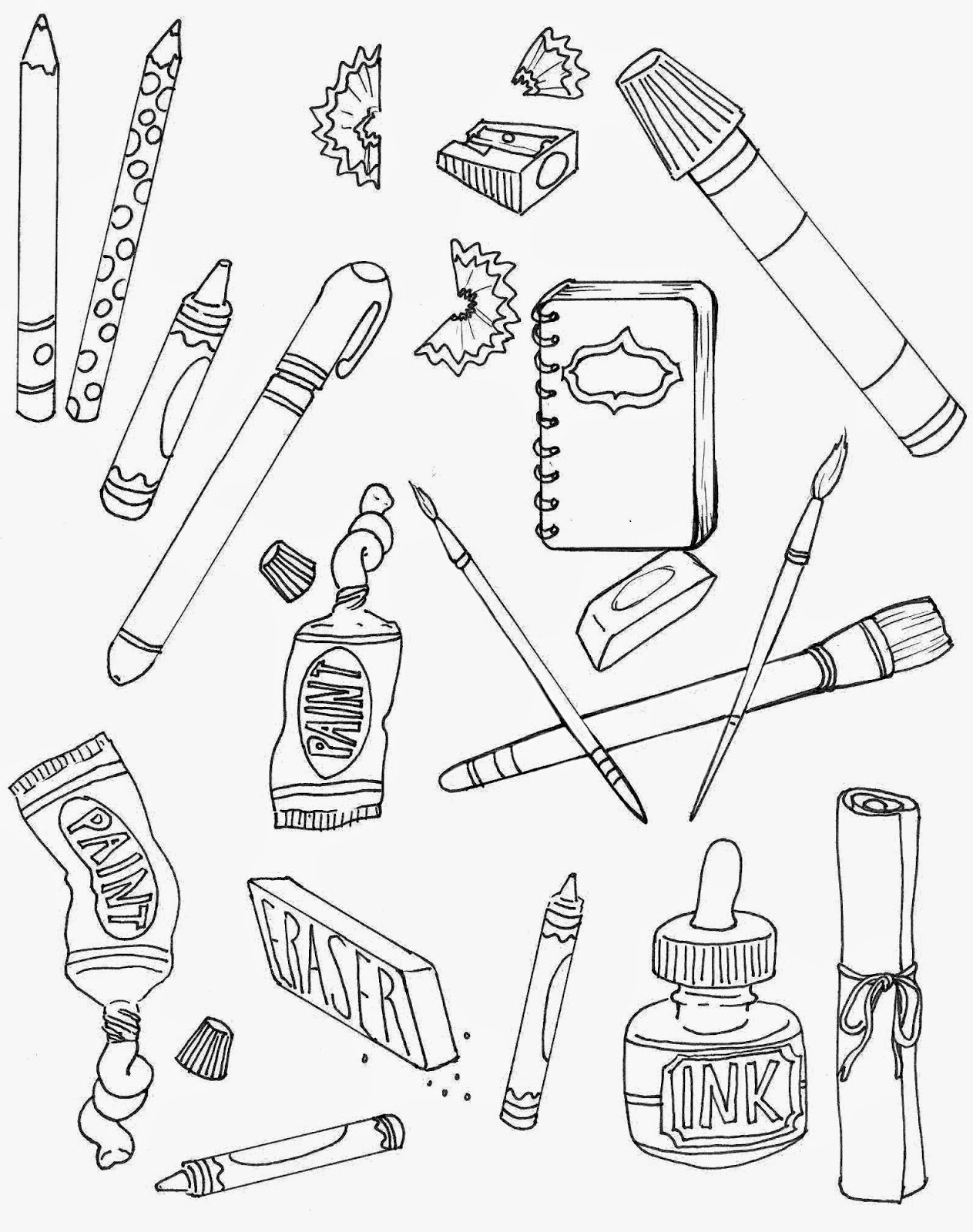1263x1600 The Spinsterhood Diaries Sunday Fun Art Supplies Coloring Page