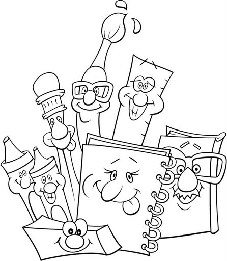 446x512 Back To School Supplies Free Coloring Pages For Kids School