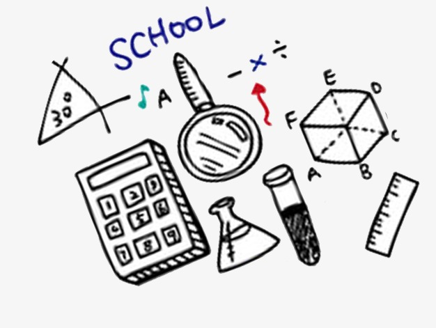 626x471 School Supplies, Stationery, Child, Hand Painted Png Image