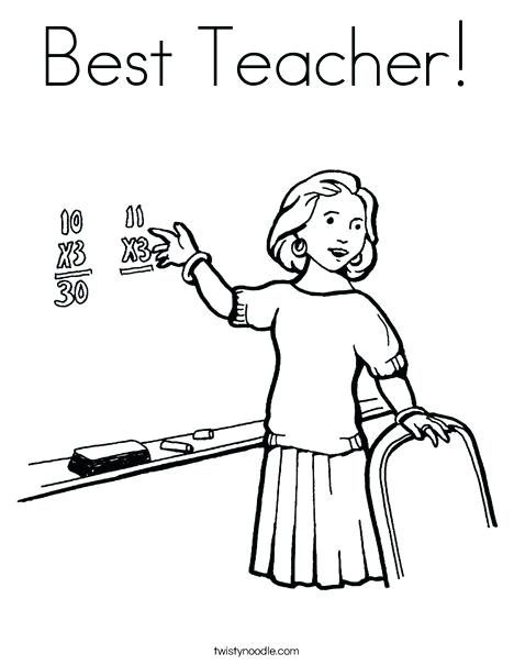 468x605 Coloring Page Teacher Best Teacher Coloring Page Coloring Page