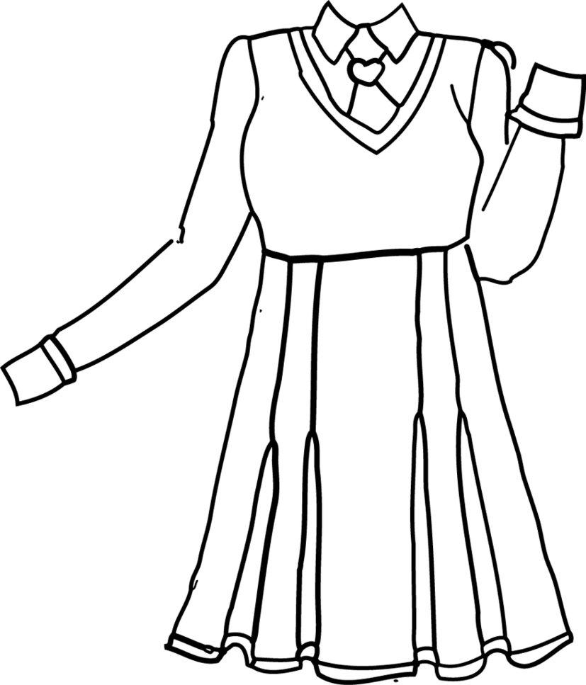 827x967 Floraangels School Uniform Lineart By Primagnus2008