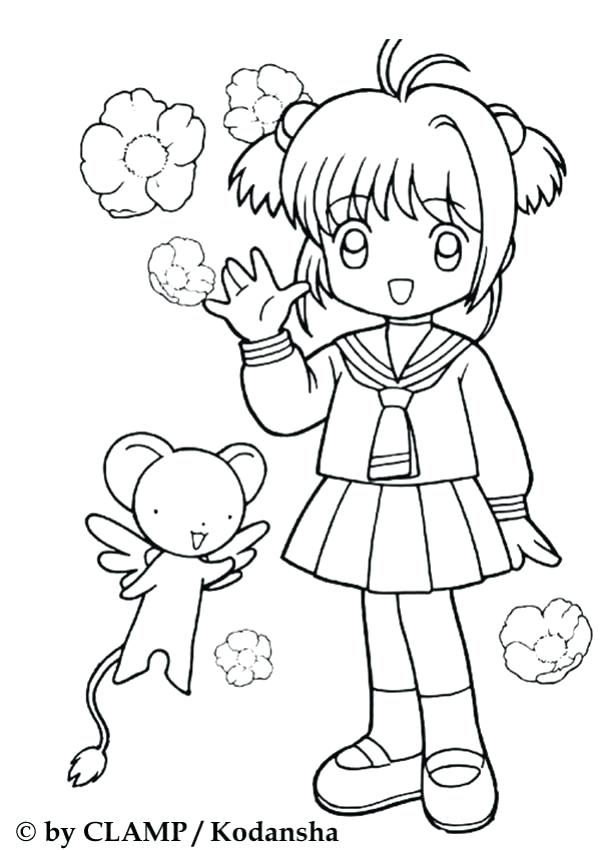 601x850 Good Cardcaptor Sakura Coloring Pages Best Of Lovely In Her School