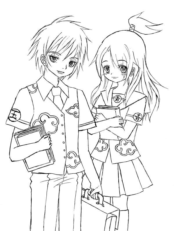 600x793 Akatsuki School Uniforms X3 By Liadebeaumont