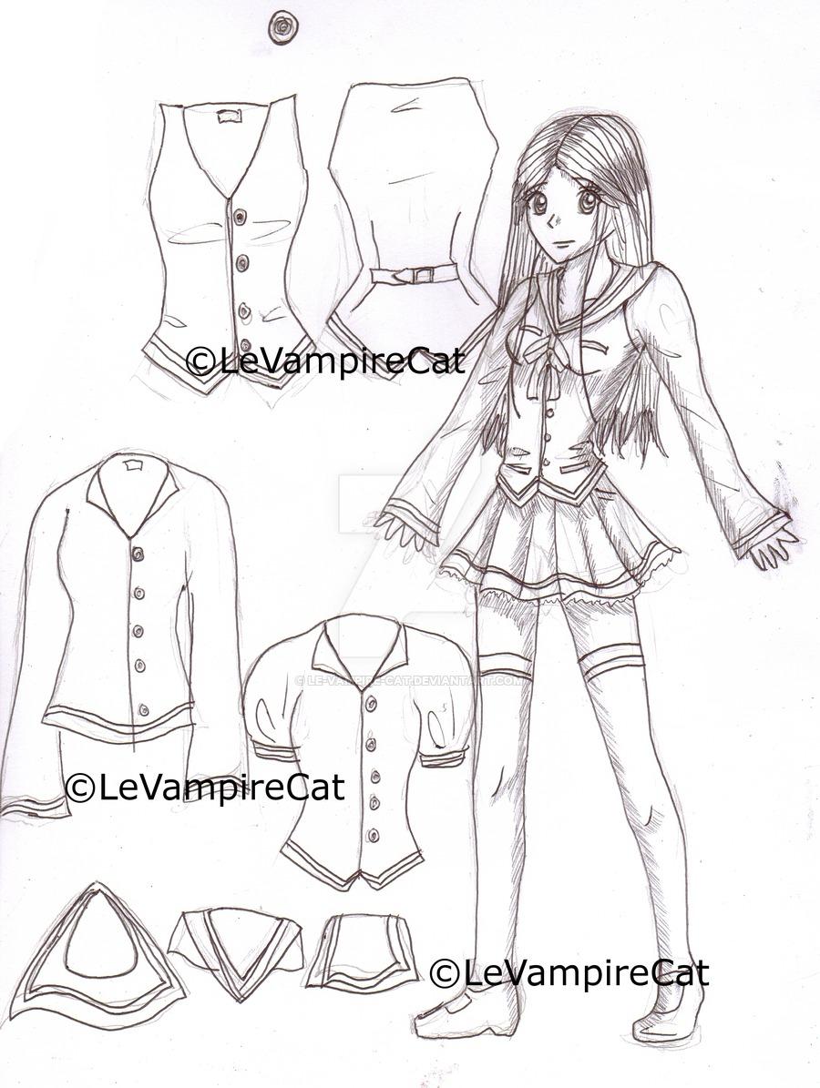 900x1195 New School Uniform By Grimoire Des Reves