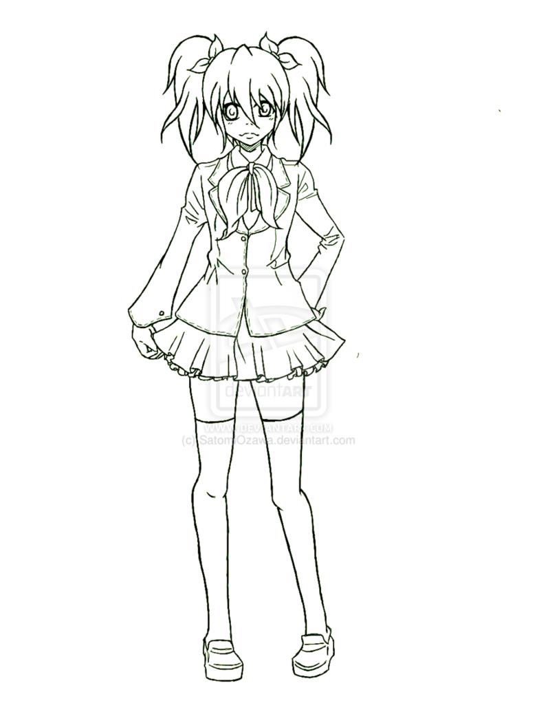 781x1022 Anime School Uniform Drawing Anime Anime, Drawing