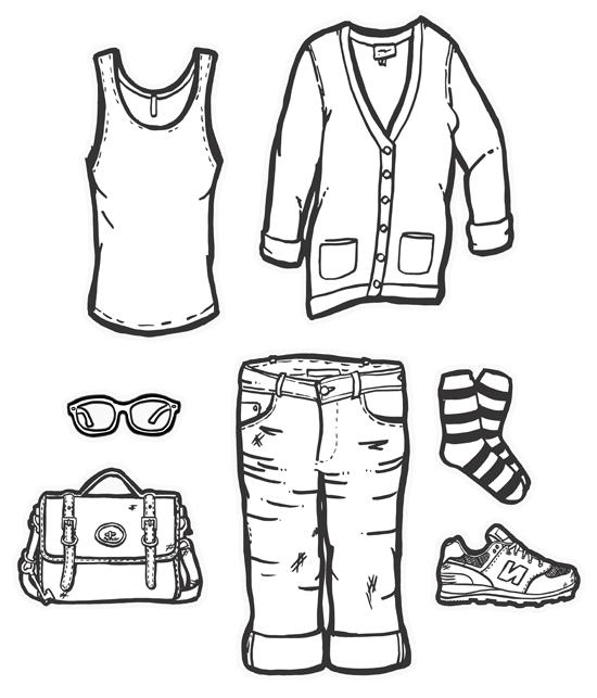 550x643 Daily Uniform. Illustrations An Art School Dropout's Life
