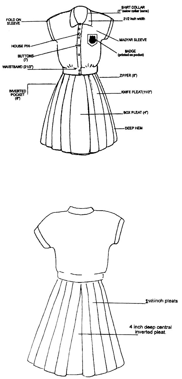 622x1292 Nghs School Uniform Naparima Girls' High School