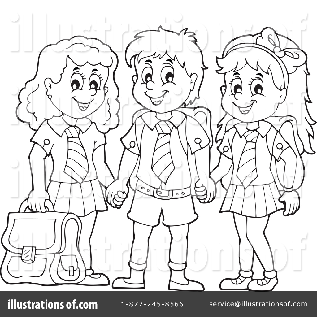 1024x1024 School Uniform Clipart Black And White 1 Clipart Station