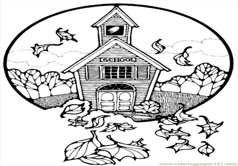 476x333 Old House Coloring Pages School
