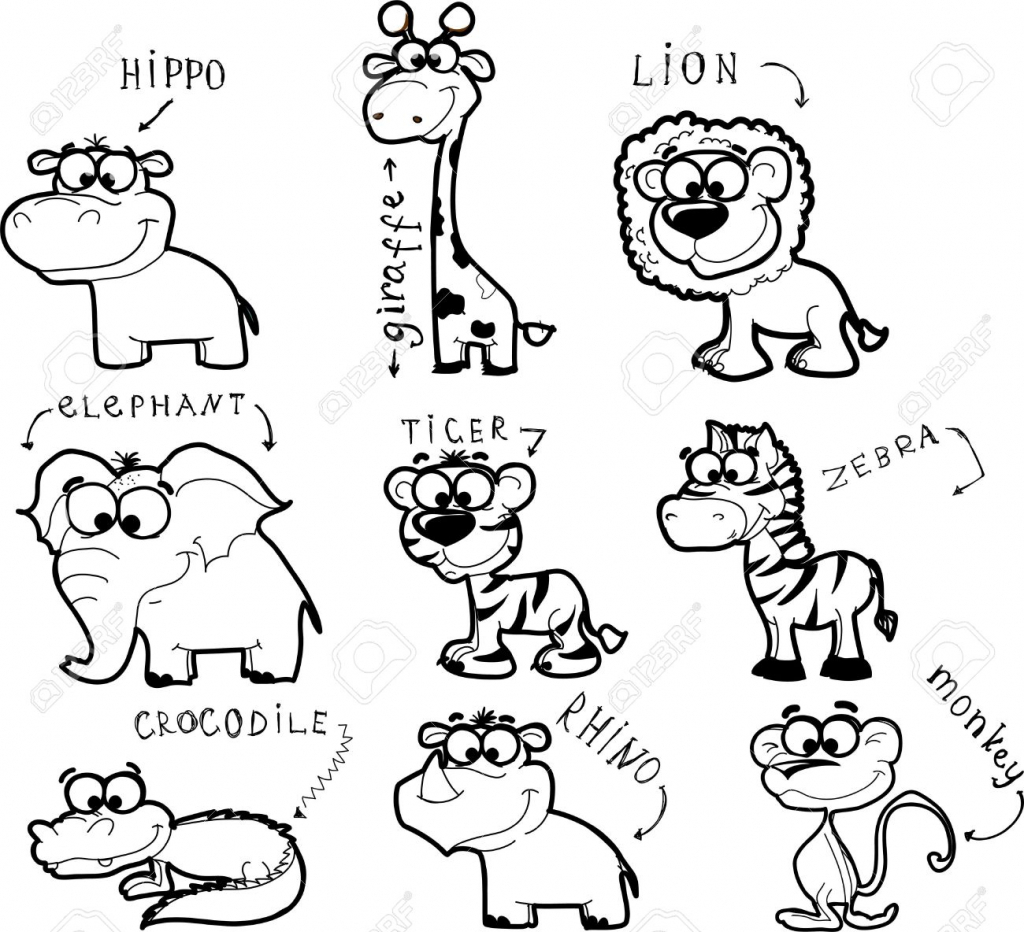 1024x932 Pictures Of Zoo Animals To Draw Stepstep Drawing Animals