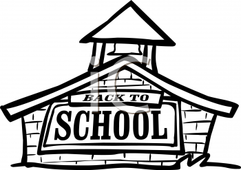 350x247 Royalty Free School House Clipart