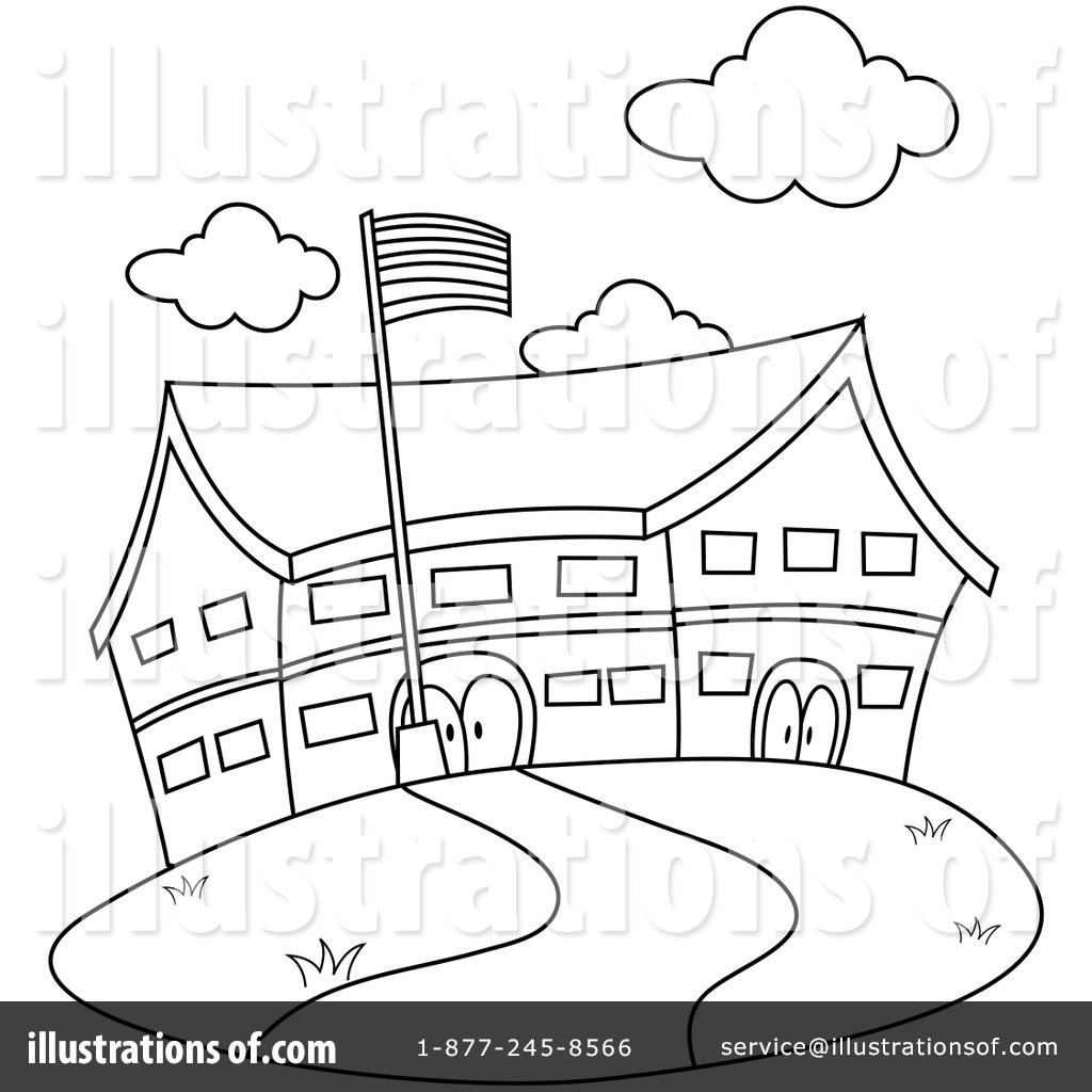 1024x1024 Black Amp White Clipart School