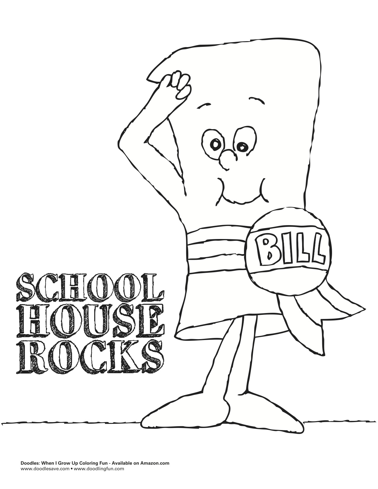 1275x1651 Schoolhouse Rock Coloring Pages Page