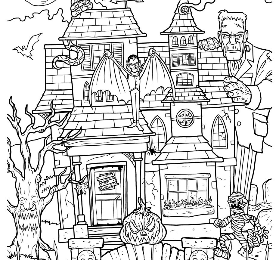 927x864 Up House Coloring Page School Room Mom Drawing Pages