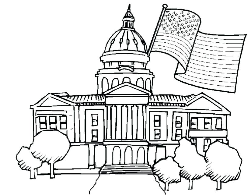 825x640 White House Coloring Pages The White House Coloring Page White