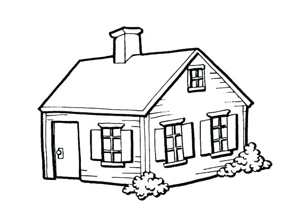 600x429 Coloring Page House