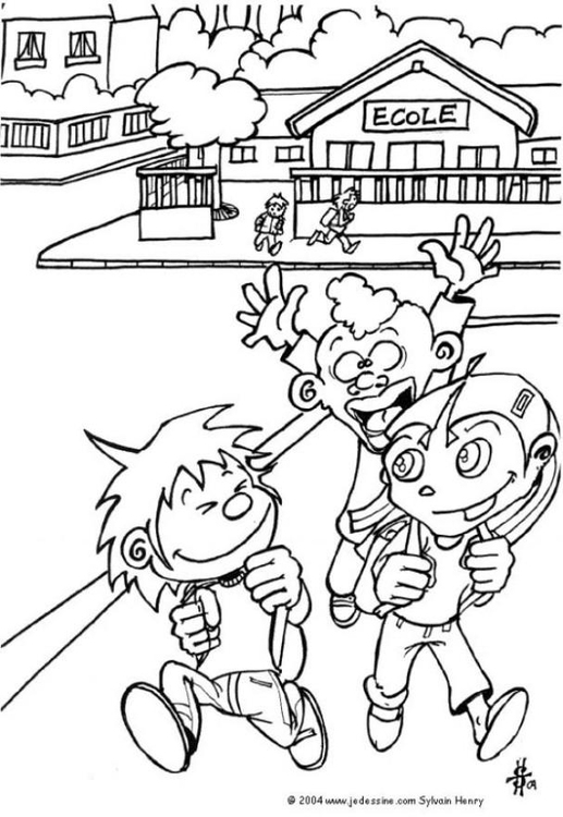 517x750 Coloring Page School's Out