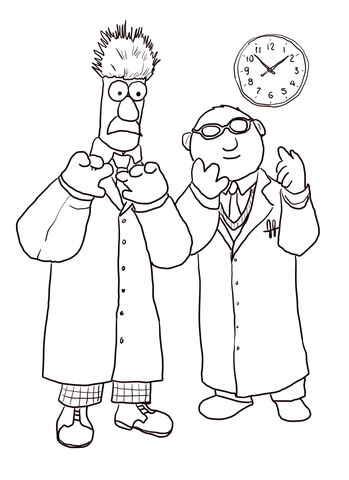 349x480 Beaker And Bunsen Honeydew Coloring Page Free Printable Coloring
