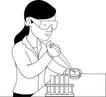 210x192 Free Black And White Science Outline Clipart