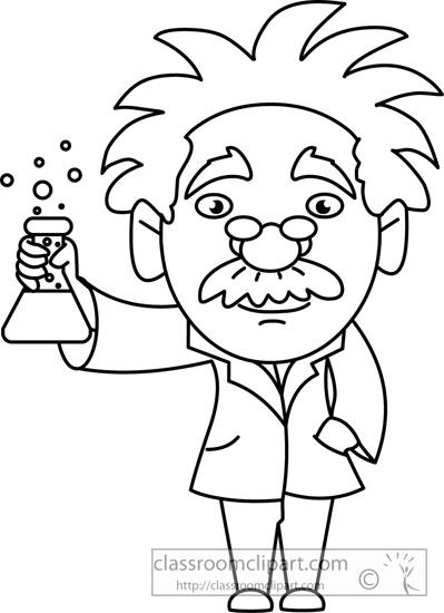 399x550 Science Clipart Scientist Holding Beaker